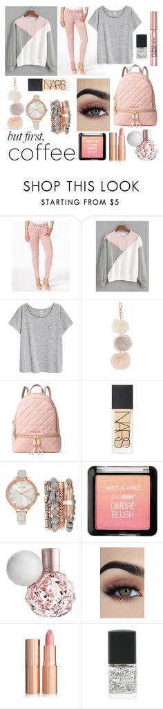 """""""Coffee break"""" by cobbles ❤ liked on Polyvore featuring Buffalo David Bitton, MICHAEL Michael Kors, NARS Cosmetics, Jessica Carlyle, L'Oréal Paris and Lane Bryant"""