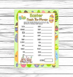 Easter Game, Finish The Phrase Game, Easter Party Word Games, Fun Games, Guess The Word Game, Easter Party Games, Dinner Games, Emoji Games, Valentine Words, 75th Birthday, Easter Printables