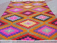 Vintage Turkish Area Rug Kilim Carpet Cicim Embroidered Por So Rugs And Carpets Pinterest Decoration