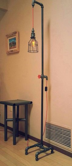 this industrial floor lamps that can make any home get that vintage industrial decor like no other. Decor, Industrial Flooring, Industrial Floor Lamps, Diy Industrial Lighting, Rustic Industrial Lighting, Floor Lamps Living Room, Diy Pendant Lamp, Diy Lighting, Vintage Industrial Furniture