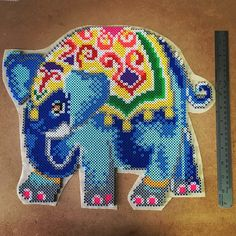 Indian elephant perler beads by capriciousarts