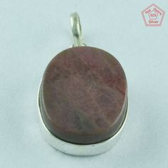 Rodonite Designer 925 Sterling Silver Pendant Jewelry P2768 #SilvexImagesIndiaPvtLtd #Pendant