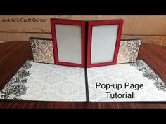 Pop-up Album - How to create pop-up page Mini Albums, Diy Mini Album, Mini Album Tutorial, Mini Scrapbook Albums, Diy Tutorial, Scrapbook Pages, Ideas Scrapbook, Exploding Gift Box, Pop Up Frame