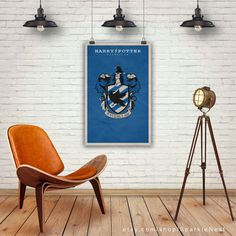 Harry Potter Poster. Quidditch. Ravenclaw Badge. Harry Potter Art Print. Pop Culture and Modern Home Decor Poster. Item No. 228