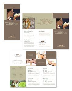 Spa Trifold A Brochure Brochure Templates  Brochure Templates