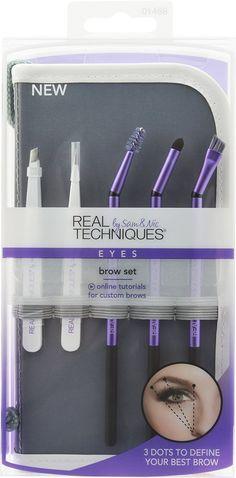 Brow Set: Angled tweezer, Detailing tweezer, ProSlant brow spoolie, ProSlant brow compass,ProSlant brow brush.