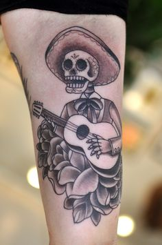 I would love to have this!!! Day of the dead mariachi band - tattoo -