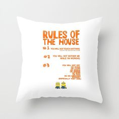 rules of the house, despicle me, minion, funny. throw pillow with insert by studiomarshallgifts on Etsy