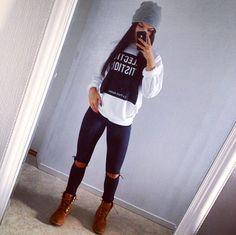 Pretty Girl Swag ,daytime look. Tomboy Fashion, Look Fashion, Fashion Outfits, Womens Fashion, Fashion Pants, Fashion Clothes, Clothes Swag, Swag Fashion, Fashion Killa