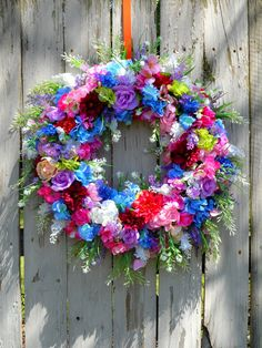 Floral Farmhouse Wreath for Front Door, Floral Arrangement, Spring Wreath, Summer Wreath, Front Door Wreath, Floral Home Decor, Door Decor