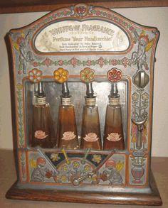 Mills Whiffs of Fragrance Perfume Dispenser Bulls Head Purity Vending Machine Columbus Ohio gumball Peanut