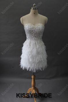 Short prom dress  white prom dress / short girls by KissyBride, $249.00