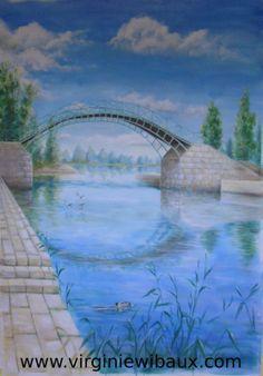 Exemple de peinture murale. Sur devis. www.virginiewibaux.com