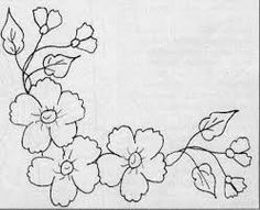 Embroidery Flowers Pattern, Embroidery Patterns Free, Hand Embroidery Stitches, Hand Embroidery Designs, Cross Stitch Embroidery, Quilt Patterns, Motifs D'appliques, Fabric Paint Designs, Flower Coloring Pages