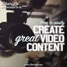 """Be clear about the story you are trying to tell""----- How to easily create videos for social media"