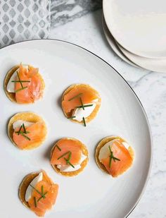 Smoked Salmon Blini | Serve these as an appetizer for guests or make a bunch and eat them for dinner in front of a good movie.
