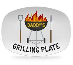 Personalized Grilling Platter for Dad or Papa, Great for Father's Day Bbq Plates, Grill Plate, Fathers Day Crafts, Gifts For Father, Kid Crafts, Bbq Gifts, Golf Gifts, Grilling, Bbq Grill