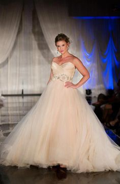 Sherbet tulle ball gown. 3108