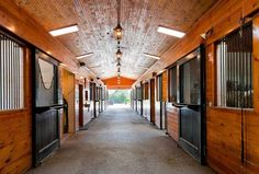Stable with enclosed ceiling