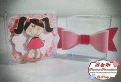 Caixinha de Acrílico personalizada no tema Bonecas.