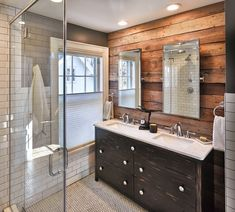 Image result for bathroom rustic subway tile