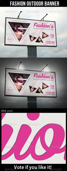 Fashion Outdoor Banner Billboard Template PSD. Download here: http://graphicriver.net/item/fashion-outdoor-banner-26/7774457?s_rank=192&ref=yinkira