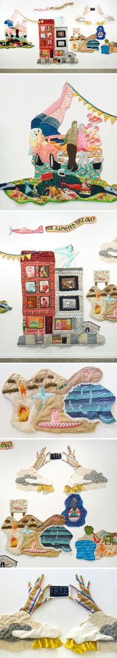 textile art installation by andrea alonge #quilt #contemporaryart