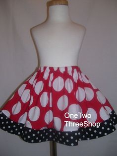 Custom Boutique Disney Minnie Mouse Skirt 3 months to 6 by amacim, $21.99