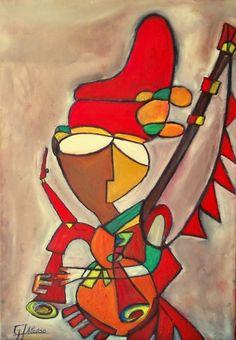 Obra de arte: Gaiteiro Artistas y arte. Artistas de la tierra