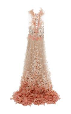 Petal Skirt Ball Gown by MARCHESA for Preorder on Moda Operandi