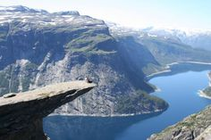 Trolltunga is a piece of rock that stands horizontally out of the mountain above Skjeggedal in Odda, Norway.