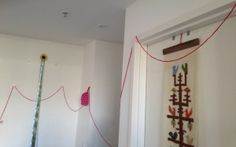 Follow the red string to find birthday presents! #Frozen #Fever party