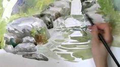 수채화 강의 #계곡, via YouTube.