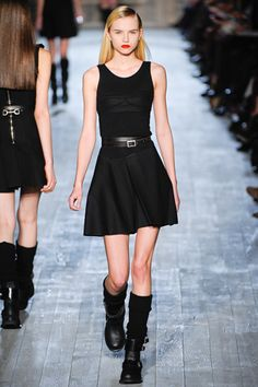 Victoria Beckham, fall 2012  For a buttoned up chick, she's sure finding her way to an unbuttoned woman's heart
