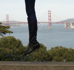 Poppy Barley Made to Measure - The Everyday City Boot - Essential Black. As worn by @Caitlin Burton Burton Flemming of Sacramento Street. #customboots #bespoke #boots www.poppybarley.com