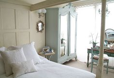Light Blue Armoire: Luckily I have a similar one, now I just need blue paint :)