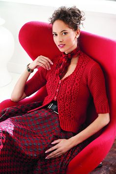 Ravelry: Cabled Cardi pattern by Norah Gaughan
