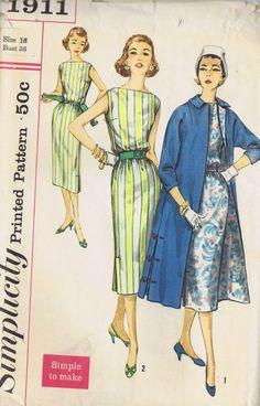 9 VINTAGE SHEATH DRESS COAT SLACKS SEWING PATTERN LOT 60s SIMPLICITY SIZE 10 -16 | eBay