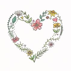 valentines drawing happy valentine flowers pencil flower heart instagram illustration simple clip watercolor clipart doodles painting