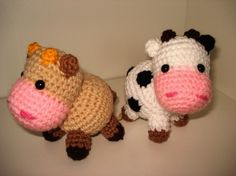 Amigurumi Free Patterns Cow : Amigurumi Pattern Little cows PDF by Janagurumi on Etsy