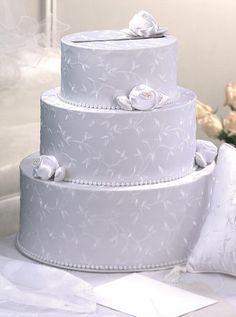 3 tiered box wedding cake