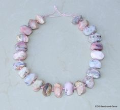 Pink Peruvian Opal Faceted Nugget Pink Opal by EDGBeadsandGems