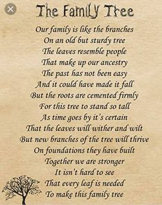 poems about family tree Family Reunion Quotes, Family Tree Quotes, Family History Quotes, Family Poems, Family Reunions, Family Tree Research, Family Tree Chart, Family Tree Book, Genealogy Quotes