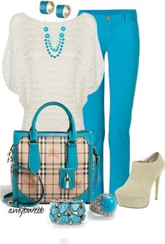 Love that color, not so much the purse, shoes,and top