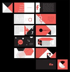 Futura Type Book on Behance