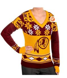 online shopping for NFL Women's V-Neck Sweater, Washington Redskins, Small from top store. See new offer for NFL Women's V-Neck Sweater, Washington Redskins, Small Women's V Neck Sweaters, Ugly Sweater, Ugly Christmas Sweater, Sweaters For Women, Nfl Redskins, Dallas Cowboys Women, Winter Outfits Women, Washington Redskins, Football Shirts