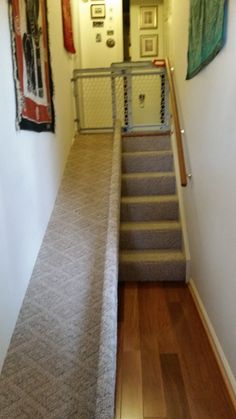Ramp that a client built for her dog to avoid stairs.