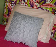 Lavender Ruffle Fabric Pillow Cover by BedheadDesigns on Etsy, $18.00