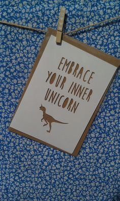 Embrace Your Inner Unicorn Greetings Card