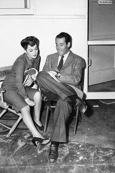 Barbara Stanwyck And Henry Fonda On The Set Of You Belong